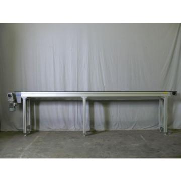"Rexroth Canada Italy Aluminum Frame Conveyor 146"" X 13"" X 38"" W/ Rexroth Motor 3 843 532 033"