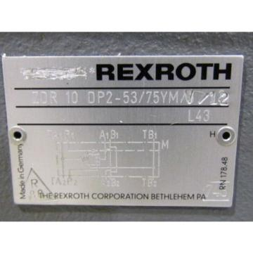Rexroth France Singapore Pressure Reducing Valve ZDR 10 DP2-53/75YMV/12