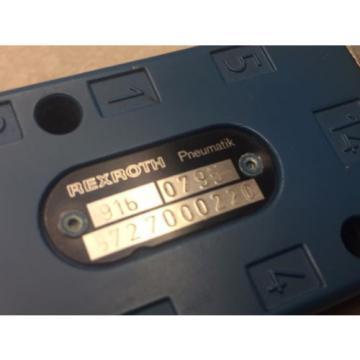 Rexroth Japan Greece 916  0795/5727000220 Valve #62448