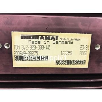 Indramat France Canada Rexroth TDM 3.2-020-300-W0 AC Servo Controller Drive