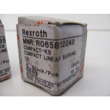 LOT Mexico Korea OF 2 REXROTH R065812040 COMPACT LINEAR BUSHING NIB!!!
