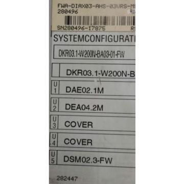 Rexroth Australia India Indramat DIAX03 DKR03.1-W200B-BE12-01-FW