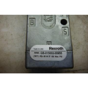 REXROTH Canada Canada GB-015002-0095 MINIMASTER VALVE ( NEW )