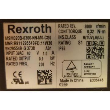 Rexroth Italy India MSM020B-0300-NN-M0-CG0 Servomotor