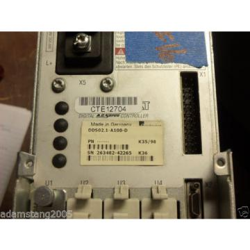 REXROTH Mexico Canada INDRAMAT DDS02.1-A100-D POWER SUPPLY AC SERVO CONTROLLER DRIVE