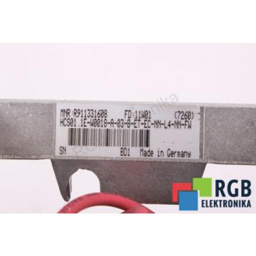 HCS01.1E-W0018-A-03 Canada Japan HCS01.1E-W0018-A-03-B-ET-EC-NN-L4-NN-FW REXROTH ID27447