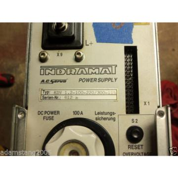 REXROTH Greece Mexico INDRAMAT power supply ac servo kdv1.2-100-220/300-115