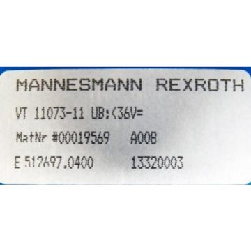 Mannesmann Australia Russia Rexroth VT 11073-11 VT11073-11 00019569 Kondensator Modul -unused/OVP