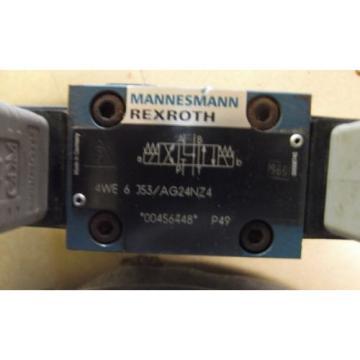 REXROTH Greece USA 4WE6J53/ AG24NZ4 DIRECTIONAL CONTROL VALVE + 4WEH 16 W48-63/6AG24NETZ4