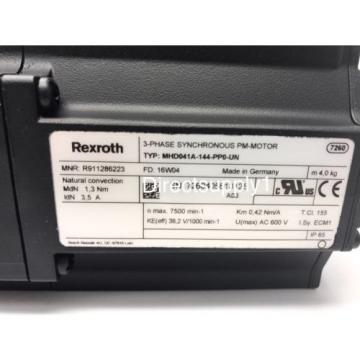 Rexroth Greece Canada Indramat MHD041A-144-PP0-UN Synchronous Permanent Magnet Servo Motor