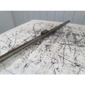 "Rexroth Italy Japan 1621-32X-10 Star 35 63"" Linear Guide Rail W/1 Bearing Block"