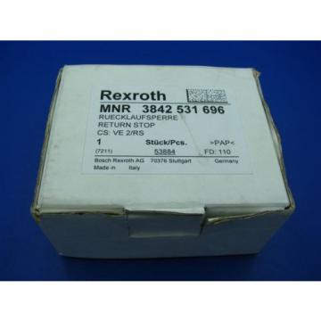 Bosch Egypt Mexico Rexroth VE2/RS Return Stop  3842531696 NEW