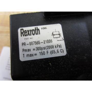 Rexroth Russia Australia PR-007565-21006 Regulator PR00756521006