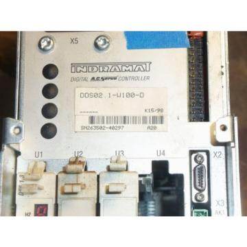 REXROTH Russia china INDRAMAT DDS02.1-W100-D POWER SUPPLY AC SERVO CONTROLLER DRIVE #21