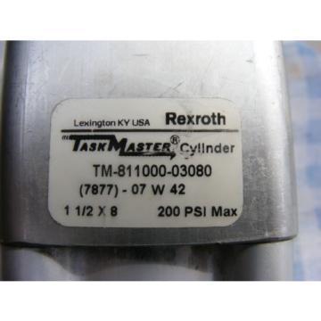 "REXROTH Canada Australia TASK MASTER CYLINDER TM-811000-03080 1 1/2""x8"" 200 PSI"
