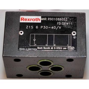 Rexroth Dutch Italy Hydraulikventil . Typ : Z1S 6 P30-40/V