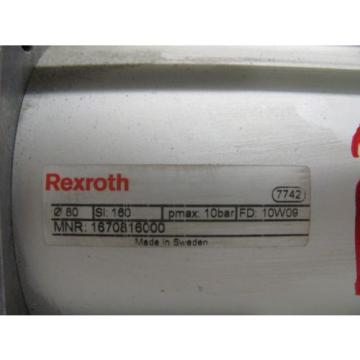 REXROTH Italy Singapore 1670816000 PNEUMATIC CYLINDER 80MM BORE 160MM STROKE NNB!!!