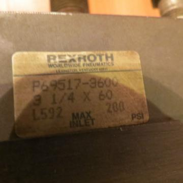REXROTH India Greece CYLINDER, P69517-3600, 3-1/4 X 60, L592, MAX 200 PSI, STROKE 60""