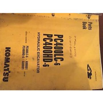 KOMATSU PC400 400  EXCAVATOR PARTS CATALOG BOOK MANUAL BEPB4006C0