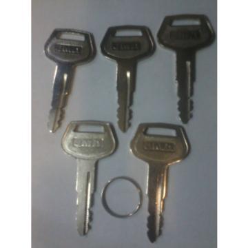 5X FIVE 787 Komatsu Key's for  Plant Equipment Heavy Duty fast dispatch get them