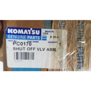 New Komatsu Shut Off Valve Assembly PC0170 Made in USA