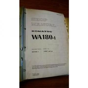 Komatsu WA180 shop manual