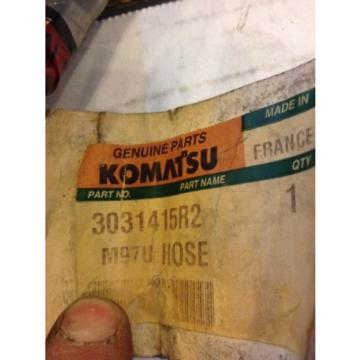 New Komatsu Genuine Parts Hydraulic Hose 3031415R2 Warranty! Heavy Equipment