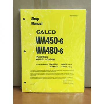 Komatsu Galeo WA450-6,WA480-6 (KA Spec.) Wheel Loader Shop Service Repair Manual