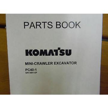 Komatsu PC40-1 mini excavator Parts Manual