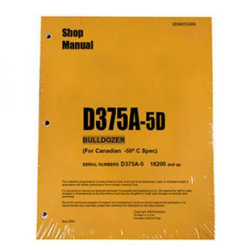 Komatsu D375A-5D Service Repair Workshop Printed Manual