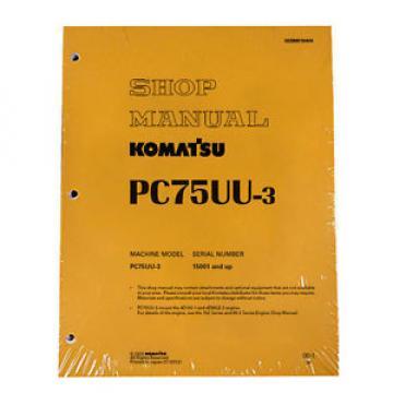 Komatsu Service PC75UU-3 Excavator Shop Repair Manual