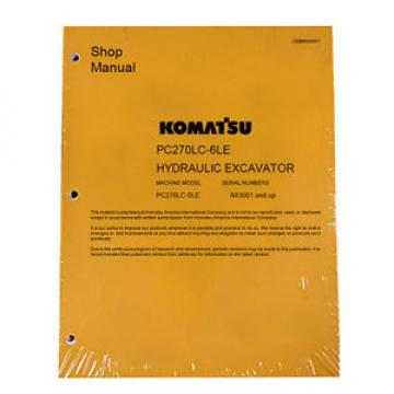 Komatsu Service PC270LC-6LE Excavator Repair Manual NEW