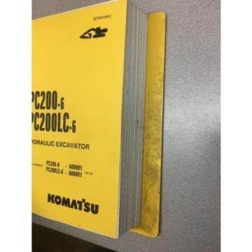 KOMATSU PC200-6 & PC200LC-6 Hydraulic Excavator Parts Book / Service Repair