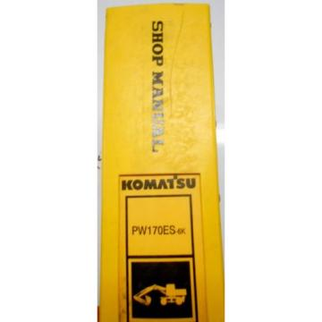 KOMATSU PW170ES-6 WHEELED EXCAVATOR SHOP MANUAL K32001-UP
