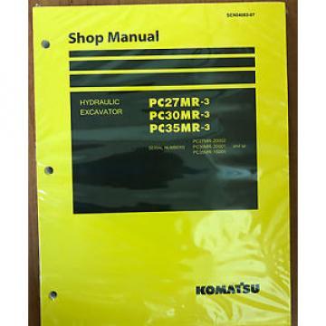 Komatsu Service PC27MR-3, PC30MR-3, PC35MR-3 Excavator Shop Manual NEW #1