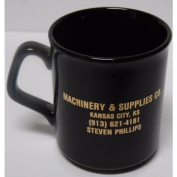 Vtg 1980s Japan Komatsu DOZER CONSTRUCTION EQUIPMENT Advertising Coffee Cup Mug