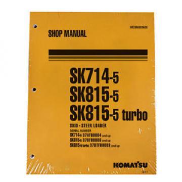 Komatsu Service SK714-5, SK815-5, SK815-5 Turbo Manual