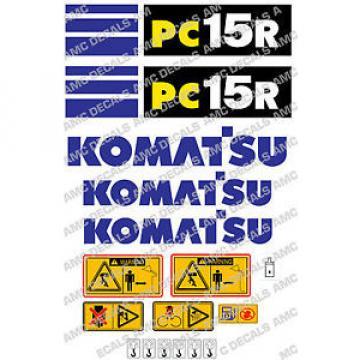 KOMATSU PC15R SET DI ADESIVI DECAL SCAVATRICE