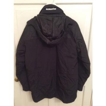 Men's Komatsu Black Hooded Jacket - Size Large
