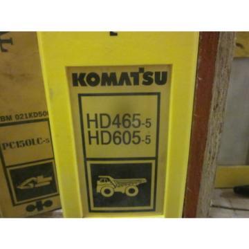 Komatsu HD465-5 HD605-5 Dump Truck Repair Shop Manual