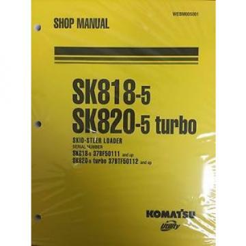 Komatsu Service SK818-5, SK820-5 TURBO Skid Steer Shop Manual