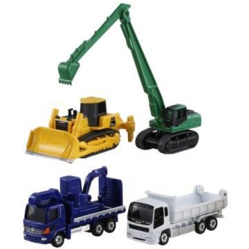 Tomica Gift Construction Equipment Set 5 Komatsu Excavator Bulldozer Diecast Car