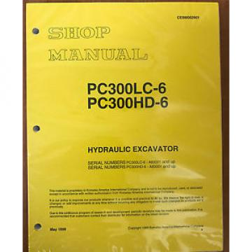 Komatsu PC300HD-6LE, PC300LC-6LE Service Repair Printed Manual