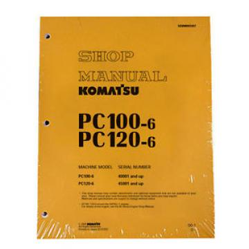 Komatsu Service PC100-6, PC100L-6, PC120-6 Shop Printed Manual