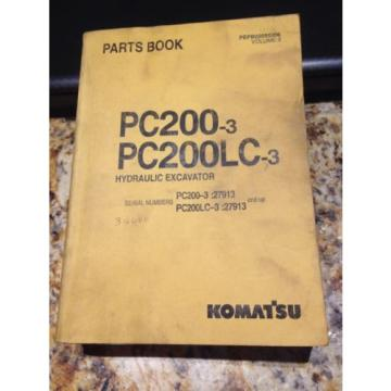 Komatsu PC200-3, PC200LC-3 Hydraulic Excavator Parts Book Volume II