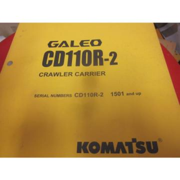 Komatsu CD110R-2 Crawler Carrier Operation & Maintenance Manual s/n 1501-