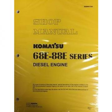Komatsu 68E-88E Series Engine Factory Shop Service Repair Manual