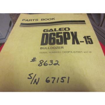Komatsu D65PX-15 Bulldozer Parts Book Manual  S/N 67001-Up