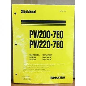 Komatsu Service PW200-7E0 PW220-7E0 Excavator Shop Manual NEW REPAIR BOOK