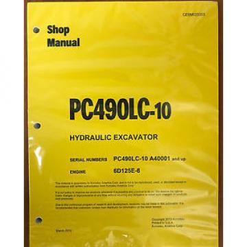Komatsu PC490LC-10 Hydraulic Excavator Shop Repair Service Manual